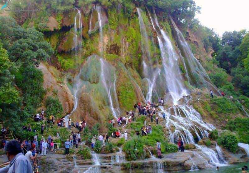 عکس آبشار آب سفید