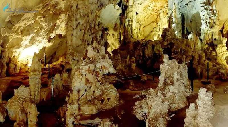 غار ده شیخ نقشه