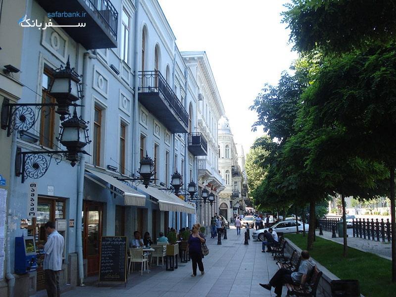 خیابان روستاولی در تفلیس گرجستان