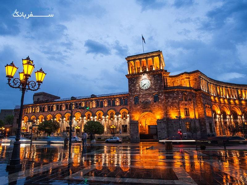 شهر ایروان در کشور ارمنستان