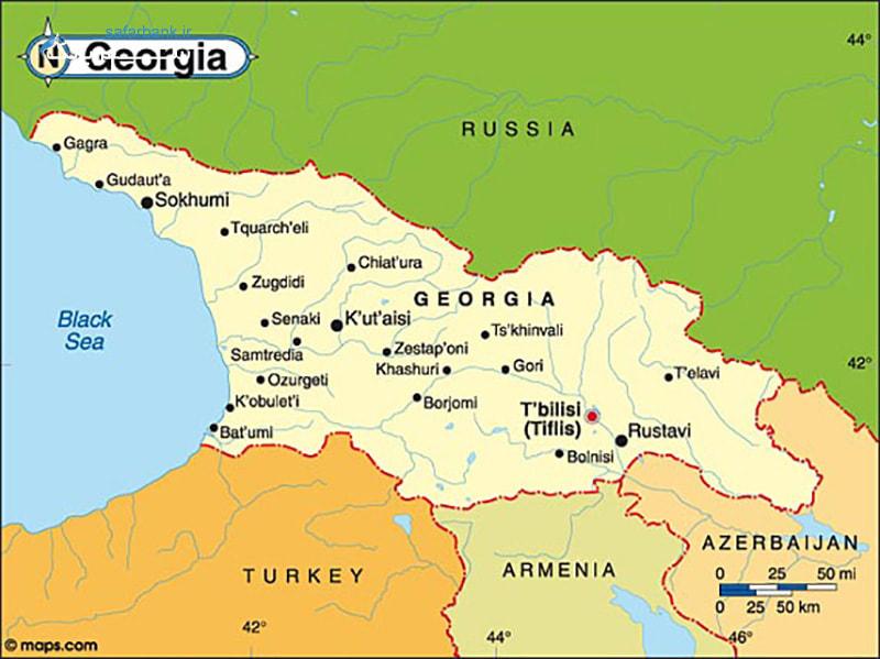 نقشه کشور گرجستان