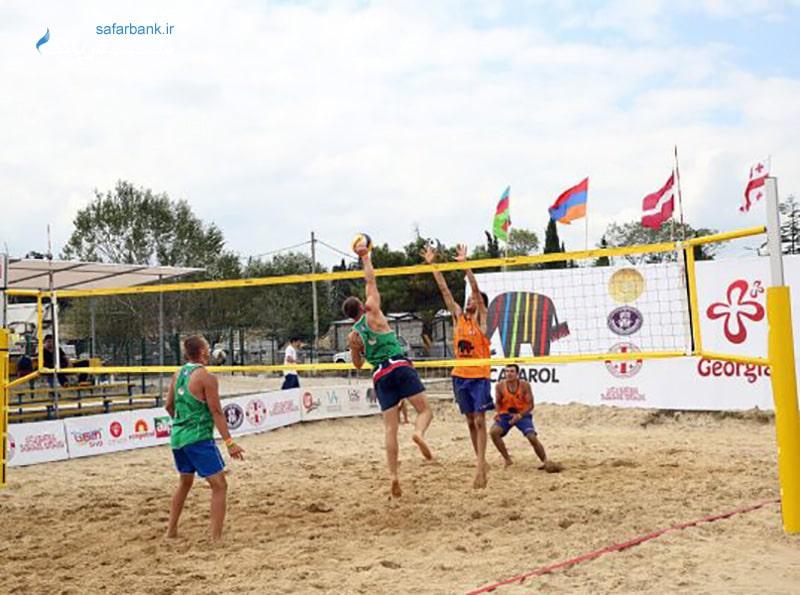 والیبال ساحلی در مجموعه تفریحی جینو پارادایس