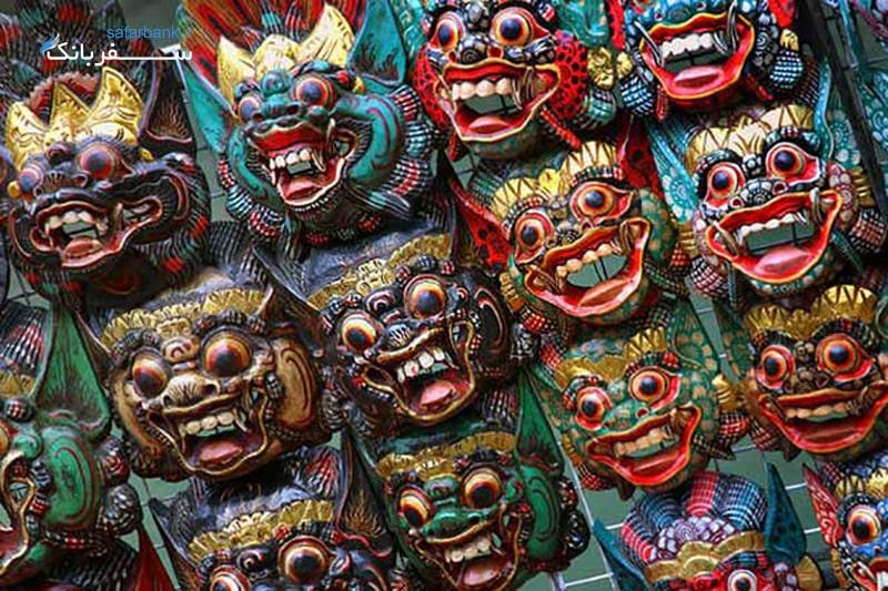 صورتک های چوبی بالی
