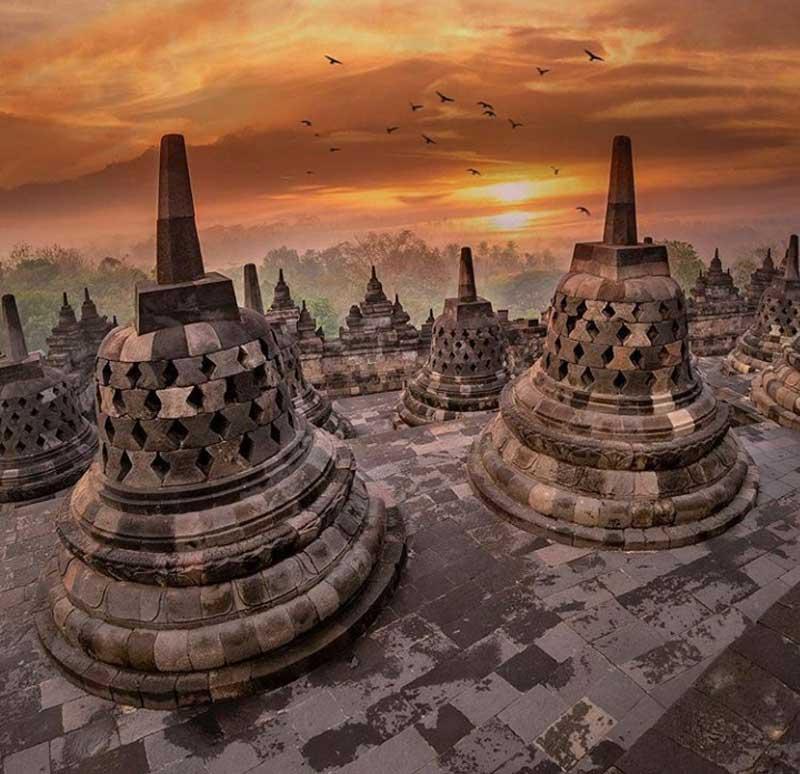 یازدید از معبد بودایی بوروبودور