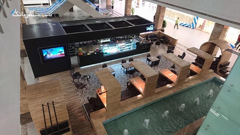 کافه بلوسی از کافی شاپ های مرکز خرید مجید مال در سلیمانیه عراق