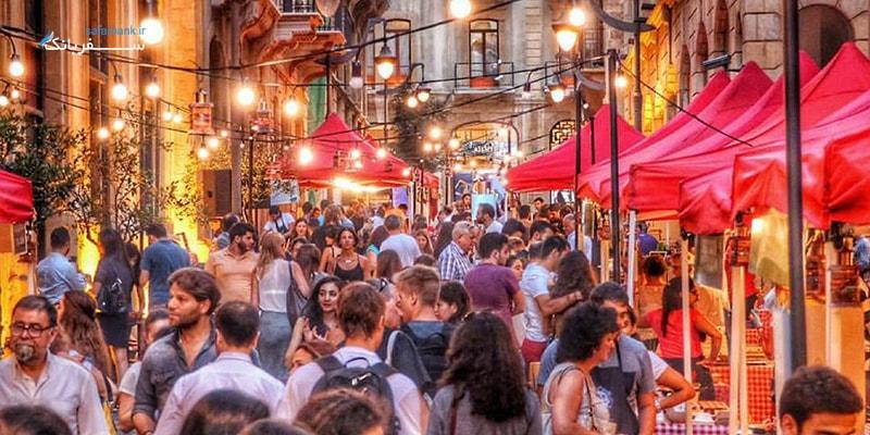بازار های لبنان و مراکز خرید