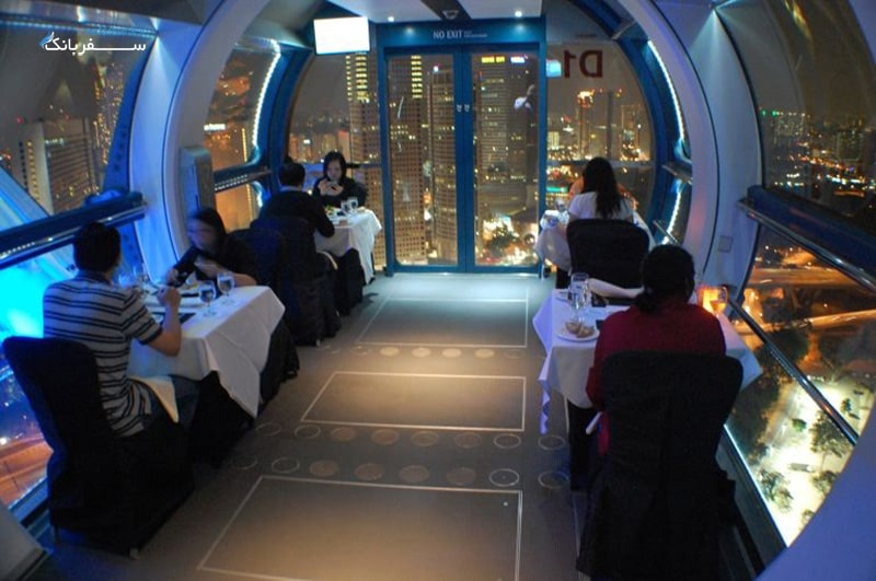 صرف شام در چرخ و فلک سنگاپور