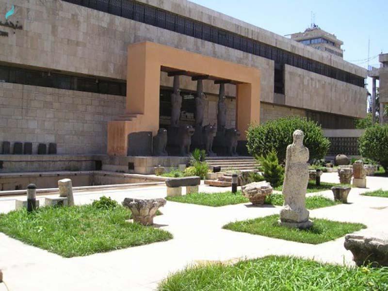 حیاط موزه ملی حلب