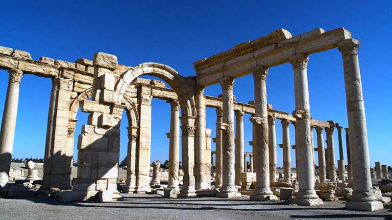 بازدید از شهر باستانی پالمیرا در سوریه