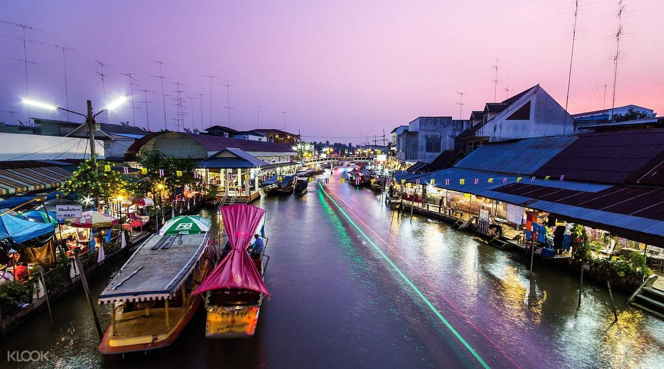 بازار شناور آمفاوا، بازار روی آب بانکوک تایلند