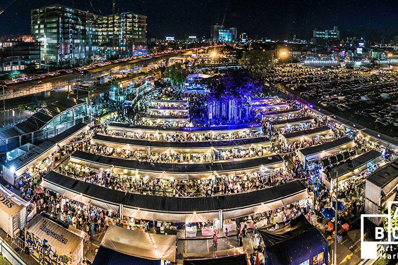 بهترین بازارهای شبانه بانکوک تایلند، بازار شبانه رتباکس نایت مارکت
