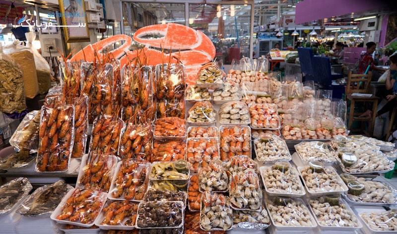 بازارهای تایلند، بازار مواد غذایی اور تور کور در بانکوک
