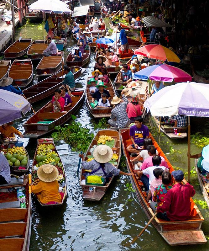 بازارهای شناور تایلند، بازار روی آب تالین چان در بانکوک