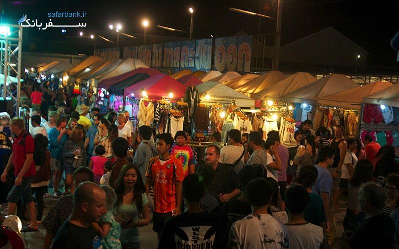 بازار شبانه تپراسیت در شهر پاتایا تایلند