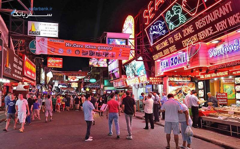 خیابان واکینگ استریت از معروفترین جاذبه های پاتایا