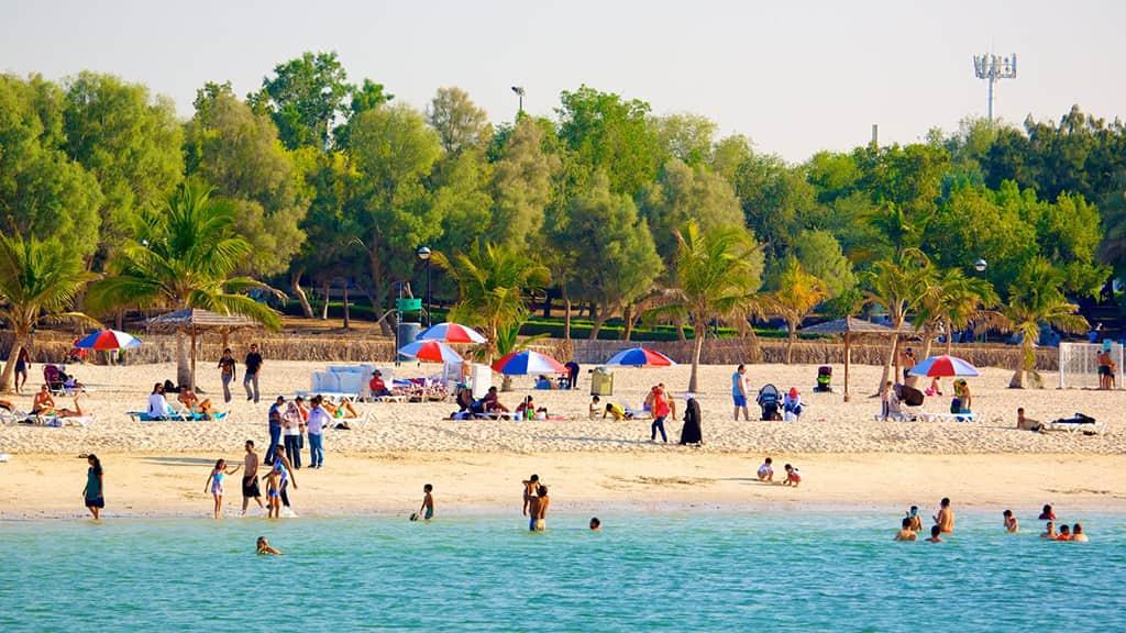 پارک ساحلی الممزر دبی از جاذبه های توریستی دبی
