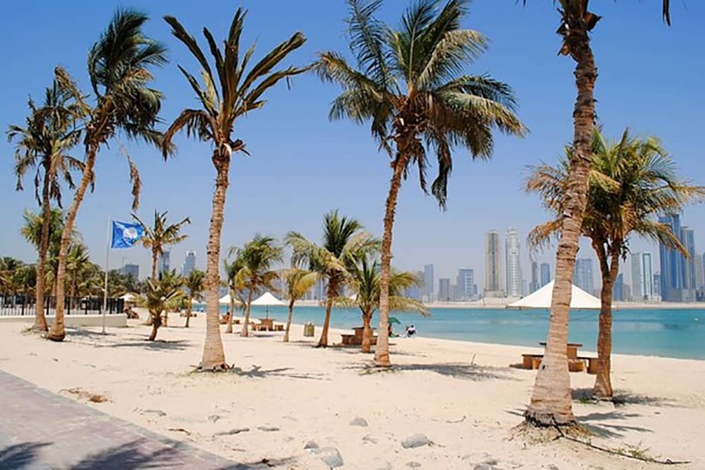زمین اسکیت در پارک ساحلی الممزر دبی