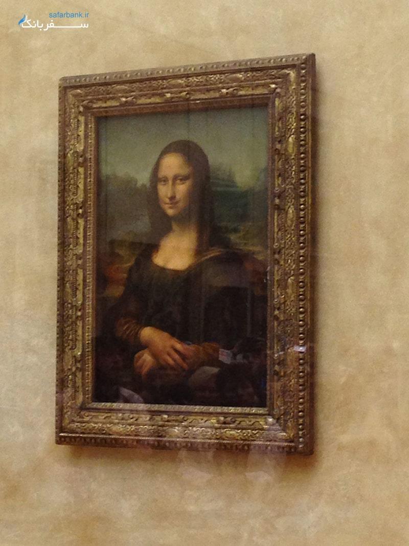 نقاشی مونالیزا در موزه لوور پاریس فرانسه