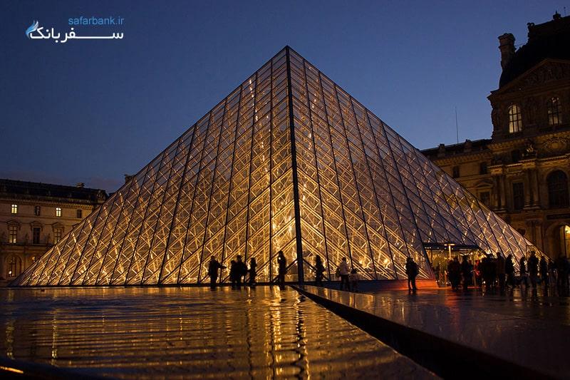 معماری موزه لوور پاریس فرانسه