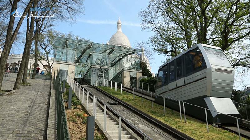 دسترسی به کلیسای قلب مقدس پاریس با فانیکولار
