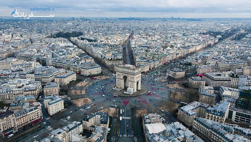 عکس قدیمی از خیابان شانزه لیزه پاریس