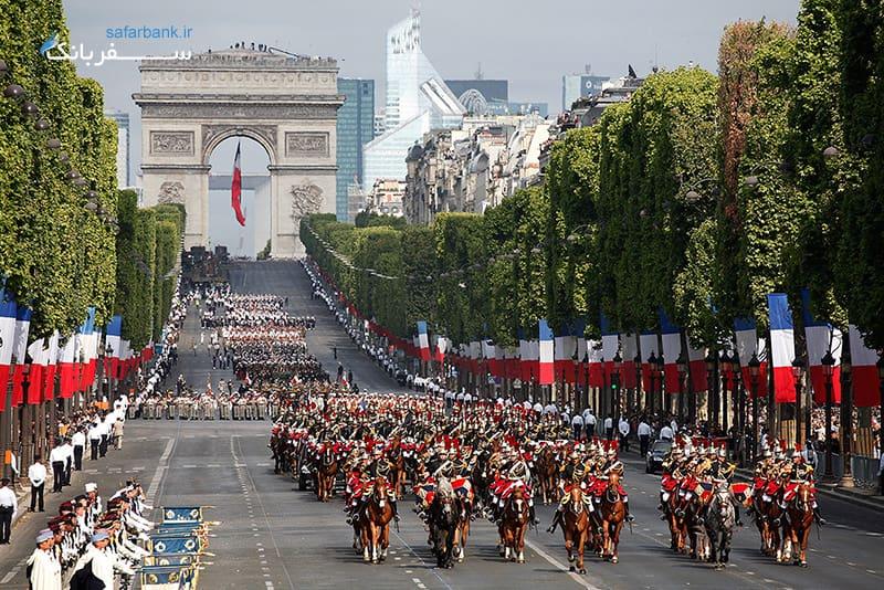 تصاویر خیابان شانزه لیزه پاریس