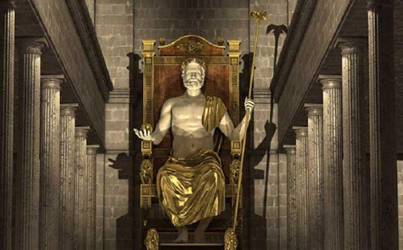 تندیس خدای خدایان زئوس