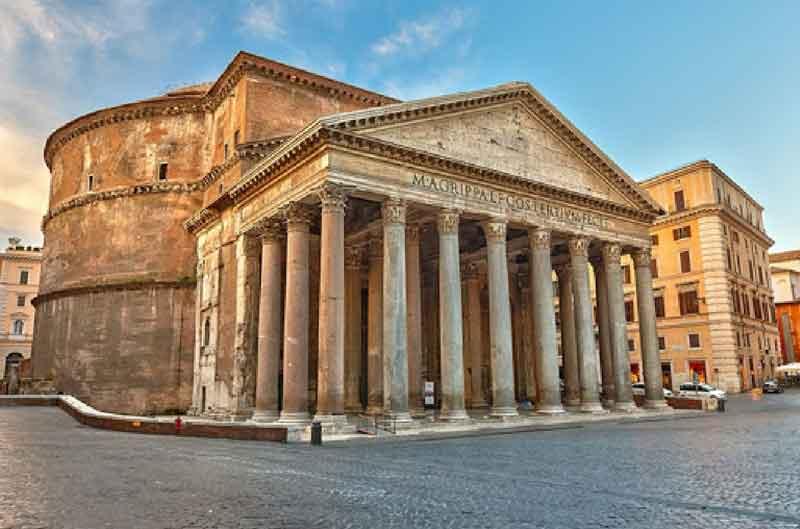 معبد پانتئون در جاهای دیدنی رم
