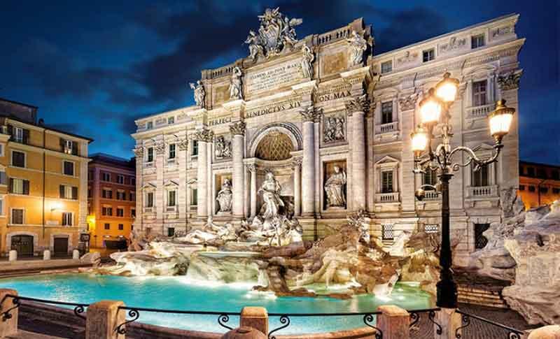 فواره تروی در جهای دیدنی رم