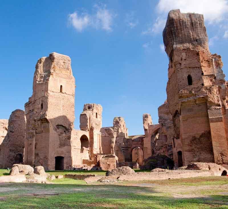 حمام های کاراکالا در جاهای دیدنی رم