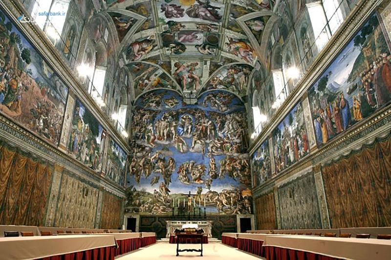 کلیسای سیستین در موزه واتیکان