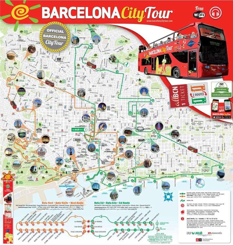 نقشه شهر بارسلونا کجاست
