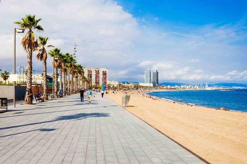 ساحل بارسلونا و تفریحات بارسلونا