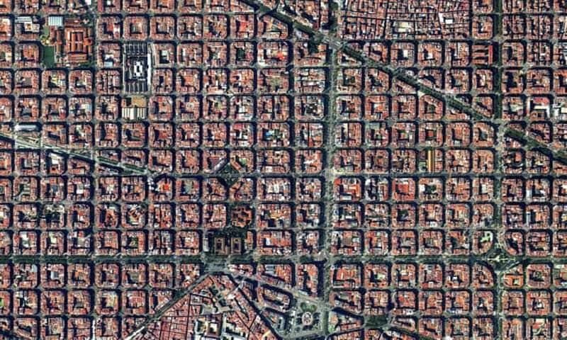شهر بارسلونا از نمای بالا