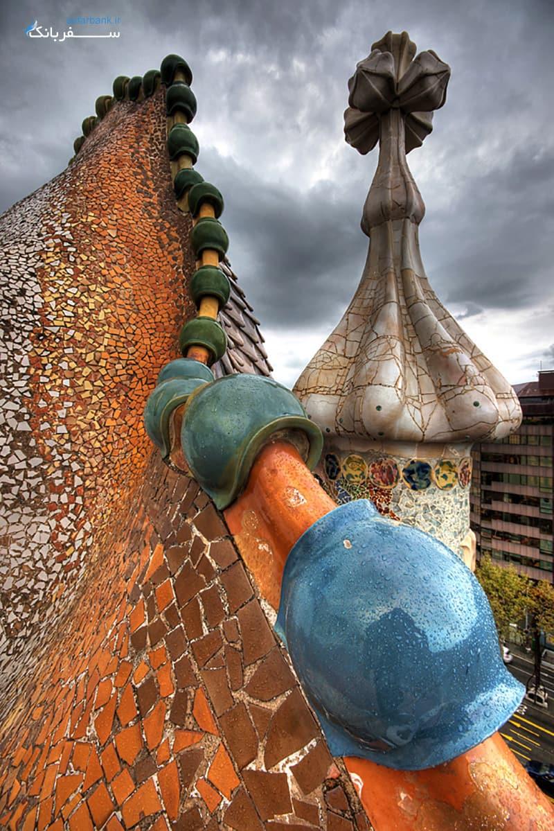 کازا باتیو خانه ای دیدنی در اسپانیا بارسلون