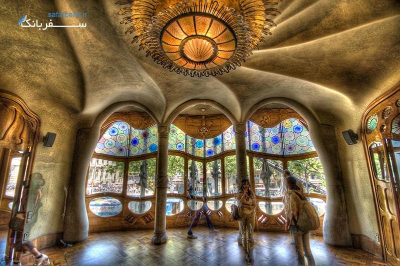 خانه کازا باتیو در شهر بارسلونا اسپانیا