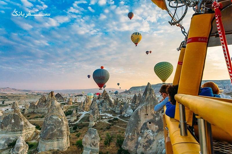 بالن سواری در کاپادوکیا در تور ترکیه