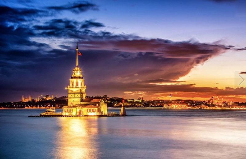 برج دختر از دیدنی های تور استانبول