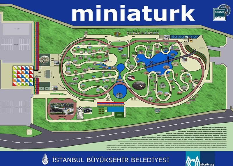 نقشه مینیاتورک استانبول از دیدنی های ترکیه