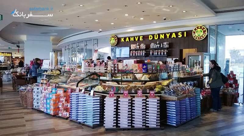 دنیای قهوه کافه ای در مرکز خرید جواهیر استانبول