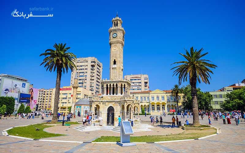 برج ساعت ازمیر نماد شهر ازمیر در ترکیه