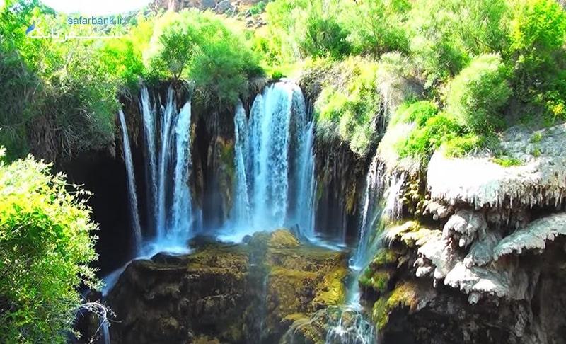 آبشار یرکوپر در قونیه با آب کربناته