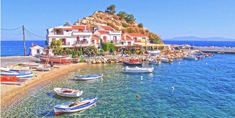 جزیره ساموس از کوش آداسی ترکیه