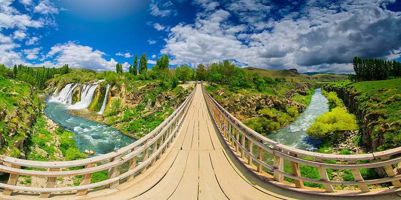 آبشار مرادیه در وان ترکیه