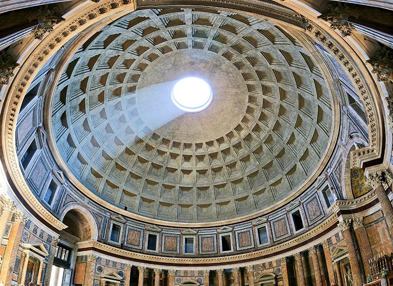 معبد پانتئون رم بهترین بنای باستانی حفظ شده جهان