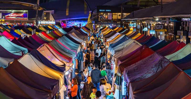 برترین بازارهای شبانه بانکوک