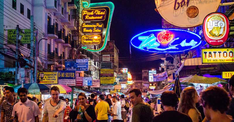 خیابان خائوسان بانکوک ارزان ترین مقصد گردشگری