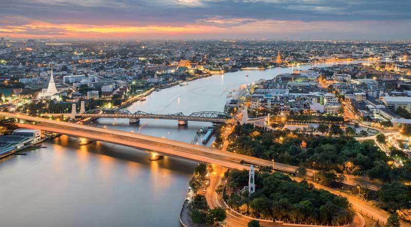 رودخانه چائو فرایا بزرگترین رود تایلند در بانکوک