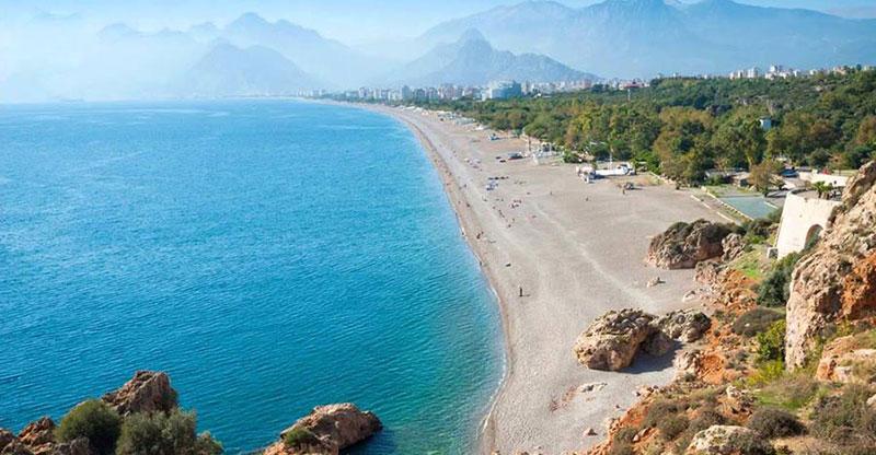 ساحل لارا و ساحل کنیالتی در آنتالیا ترکیه