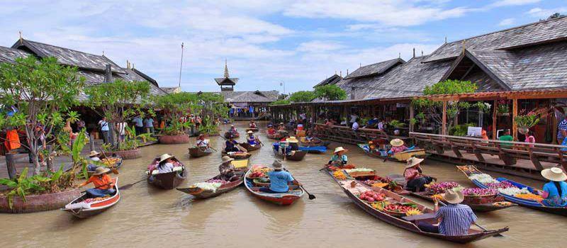 بازار شناور آمفاوا، بازار شناور محلی در بانکوک